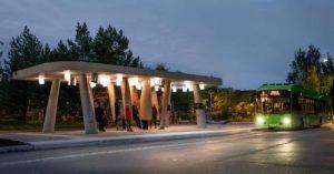 Прототип автобусной остановки для холодного климата